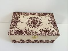 Bohemian Henna Decorated Box by MKConnection on Etsy