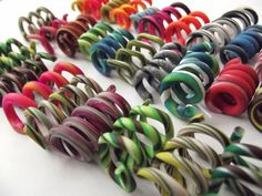 CUSTOM Dreadlock Beads by SouthpawPolymer -- ooooomg Dreadlock Accessories, Natural Hair Accessories, Natural Hair Styles, Dreadlock Beads, Dread Beads, Loc Jewelry, Unique Jewelry, Dreads, Wire Wrapping