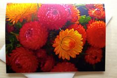 Fall Greeting Cards  Floral Photo Card  Straw by SmartBlondes