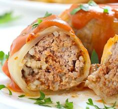 Facebook Pinterest Print Yields: 6 servings | Serving Size: 2 cabbage rolls Points Plus: 6 | Smart Points: 7 Calories: 218 | Total Fat: 7 g | Saturated Fat: 2 g | Trans Fat: 0 g | Cholesterol: 93 mg | Sodium: 201 mg | Carbohydrates: 23 g | Dietary Fiber: 3 g | Sugars: 12 g | Protein: 17 g Ingredients For the rolls: 12 leaves cabbage 1 cup cooked long grain rice 1 egg, beaten 1/4 cup milk 1/4 cup finely chopped white or yellow onion 1 clove finely chopped garlic 1 pound lean ground t...