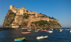 Ischia's Aragonese Castle. Photo on Pinterest.