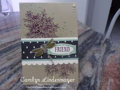 Carolyn's Card Creations: Stampin' Up! Awesomely Artistic Card