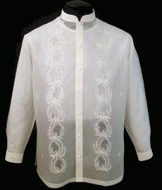 Jusi Barong Tagalog - Barongs R us Barong Tagalog For Women, Filipiniana Dress, Philippines Fashion, Chinese Collar, Big Sizes, First Communion Dresses, Ethnic Patterns, Line Shopping, Tuxedo