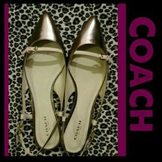 * Coach Wooster Flats * NEW * 100% Authentic! BRAND NEW COACH WOOSTER FLATS.   These beautiful slingback sandals are brand new, never worn, perfect condition.   COLOR: Warm Blush/Rose Gold  These beauties need a home, please feel free to make an offer.  * SIZE 7.5 * NO BOX/NO DUST BAG * *** Original  Retail Price $188.00 Coach Shoes Flats & Loafers