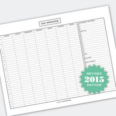 How To Design Your Week Free Planner Printable from @DayDesigner