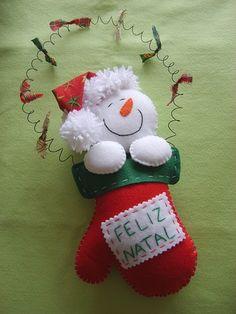Boneco de neve na luva!!! | Flickr – Compartilhamento de fotos!