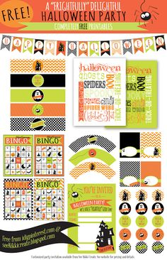Halloween Party Printable Set