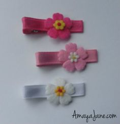 Hawaiian Hair Clips { Amaya Jane Accessories }