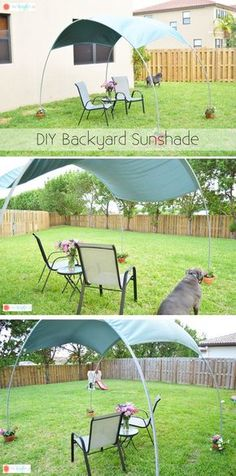 ~ DIY Backyard Sunshade....finally found the instructions to actually make this!