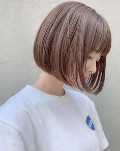 Japanese Short Hair, Asian Short Hair, Japanese Hairstyle, Short Bobs With Bangs, Bob With Bangs, Red Hair, Black Hair, Shot Hair Styles, Hair Arrange
