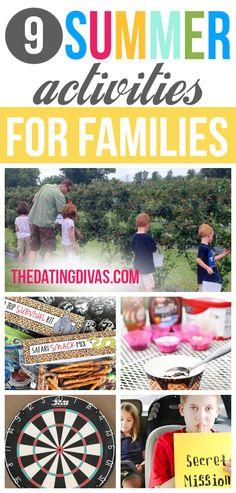 9 FUN Summer Activities for Families