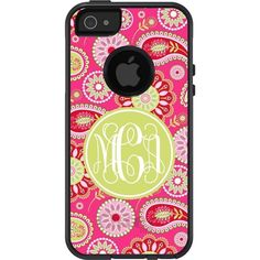 Personalized Paisley Otterbox - Monogrammed Commuter Defender