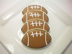 football sugar cookies | Request a custom order and have something made just for you.