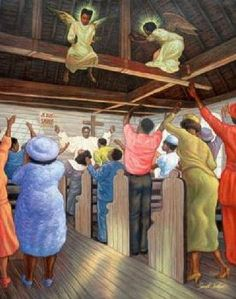 FUNERAL 24X36 POSTER AFRICAN AMERICAN ART PRINT
