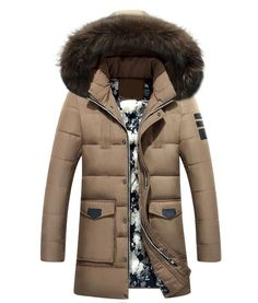 56.58$  Watch more here  - winter Brand White Duck Down Men Down Jacket Fur Hood With Cashmere Winter Jacket High Quality Fashion Men's Coat Hot Sale