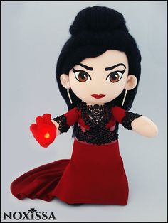 Regina Mills - The Evil Queen - Once Upon A Time - OOAK (One of a Kind) Plush Art Doll