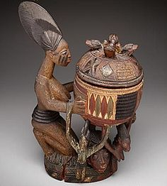 Kneeling female figure with bowl (olumeye) - DMA Collection Online