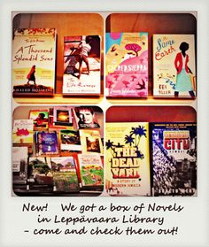 In Leppävaara Library we got a box of novels and travelogues. Stories from Berlin, Ireland, Paris, Japan and so on. You can find those in Library Tea Room. Welcome! #novels #travelogues