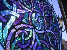 Celtic Pinwheel Stained Glass Window