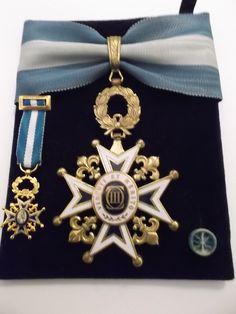 Order of Charles III - Commander's badge belonged to Don Raimundo de Miguel