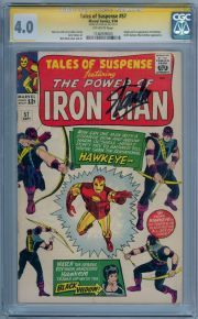 Tales of Suspense 57 1964 CGC Hawkeye Ronin Avengers New Series Iron Man Marvel Comic Books, Marvel Comics, Hawkeye Avengers, Tales Of Suspense, Iron Man Captain America, Silver Age Comics, Comic Book Covers, Geek Gifts, Book 1