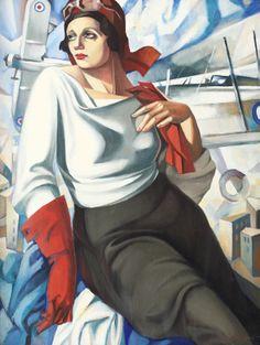 Female pilot, by Sergey Sologub