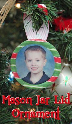 Mason Jar Lid Ornament.