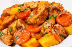 colombo pork cookeo - enjoy the delight of colombo in your . colombo pork with Cookeo, a delicious meat dish for your lunch, here is the easiest recipe to cook it. Slow Cooker Chicken Stew, Stew Chicken Recipe, Chicken Casserole, Casserole Recipes, Chicken Recipes, Cooked Chicken, Chili Recipes, Slow Cooker Recipes, Crockpot Recipes