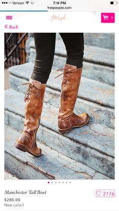 These boots...