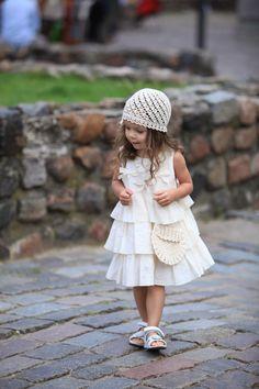 Filles ivory dress D23 été arc infantile de l'anniversaire de bébé coton ruffles fleur fille robe /hmet/rusteam par Maliposhaclothes