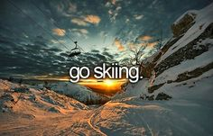 I've been skiing since I was 8! And I would go skiing everyday of my life if I could!