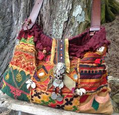 MIRRORED Patchwork HOBO Bag -- vintage Indian, tribal, one of a kind -Balance due -- RESERVED for Ashley