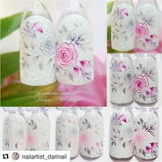 "#nailarttutorial #rosenail #flowernail - Only creative nails and story (@nails_kreativ) on Instagram: ""#Repost @nailartist_darinail (@get_repost) ・・・ Девочки,ловите мк на розы из нового нежного…"""