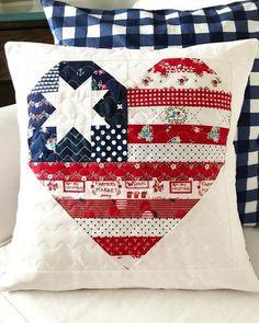Flag Quilt, Patriotic Quilts, Patriotic Crafts, Patriotic Decorations, Quilt Blocks, Quilt Kits, Quilt Top, Blue Quilts, Mini Quilts