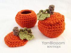 Pumpkin candy dish crochet pattern