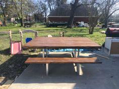 Farmhouse Furniture, Picnic Table, End Tables, Building, Color, Home Decor, Mesas, Decoration Home, Room Decor