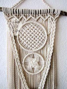 Macrame wall hanging - Intertwining - unique and stylish wall decor for your wedding, home or office. Great for photo zone. Real pine branch from the Hill Country ranch, cotton ropes. Original idea, design and handmade by Evgenia Garcia. Rope color: natural Dimensions: Branch length – 17.5 Panel height from branch to longest end – 42.5 Total panel height (from hanging ring) - 50 Max. panel width - 13 NOTE: 1. The colors on your display may differ slightly from actual colors. 2. Clean the...