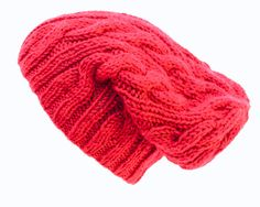 Slouchy Cable Beanie  Knit Winter Fashion  by desertroseknits, $56.00