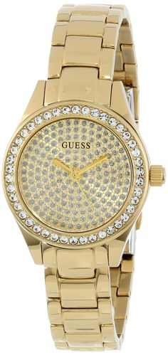 #GUESS Women's U0230L2 Analog Display Quartz Gold #Watch