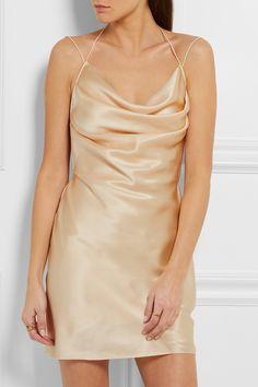 Saint Laurent | Silk-satin mini dress | NET-A-PORTER.COM