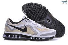 Mens Nike Air Max 2014 621077-002 White Grey Black Shoes
