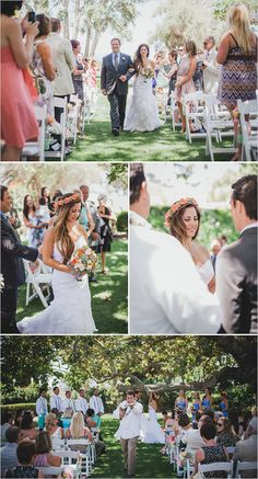 Malibu wedding ceremony outdoor wedding www.LoveShineBridal.etsy.com