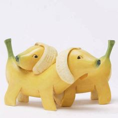 "These 'nana dogs are freaks of nature, but perfect for fantasy.  Just how will you stiffen the legs of these wiener (harumph), I mean banana dogs? But they are sooo charmingly cute, a wonderful addition to my ""Pupp Doggy"" board.  Thank you wiener dreamer!!"