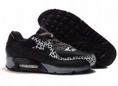 Ken Griffey Shoes Nike Air Max 90 Black White Grey [Nike Air Max 90 - Ideal basketball kicks for you here! Wonderful Nike Air Max 90 Black White Grey shoes are characterized with very cool style. Black upper is soft and durable. Nike Air Max 90s, Cheap Nike Air Max, Mens Nike Air, Air Max Plus, Yeezy, Timberland, Air Max 1 Black, Air Max 90 Hyperfuse, Boots