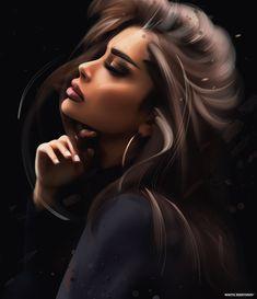 Dope Cartoon Art, Cartoon Girl Images, Girl Cartoon, Digital Art Girl, Digital Portrait, Portrait Art, Pencil Portrait, Black Love Art, Black Girl Art
