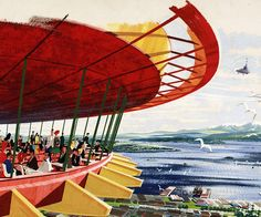 John Graham & Company study #1 of the Seattle Space Needle restaurant...in the living room collection