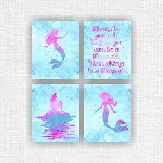 The Little Mermaid Ariel silhouette Disney by myfavoritedecor