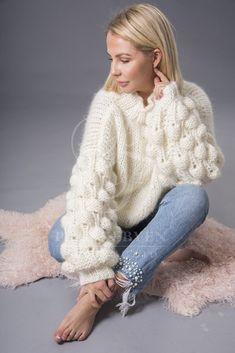 Fluffy Sweater, Angora Sweater, Autumn Fashion, Women's Fashion, Women's Sweaters, Cardigans For Women, Hand Knitting, Knitwear, Chill