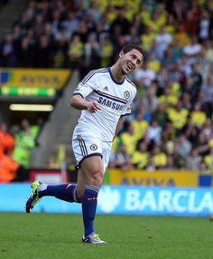 Eden Hazard. Norwich City 1-3 Chelsea. Premier League. Sunday, October 6, 2013.