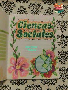 Resultado de imagen para decoraciones de cuadernos c. naturales bachillerato Notebook Art, Notebook Design, Page Borders Design, Border Design, Cool School Supplies, College Notes, Notebook Organization, School Notebooks, Little Doodles